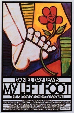 Framed My Left Foot Movie Poster Print