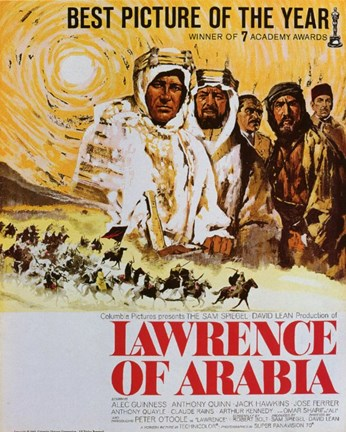 Framed Lawrence of Arabia Drawing Print