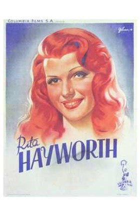 Framed Hayworth  Rita Print