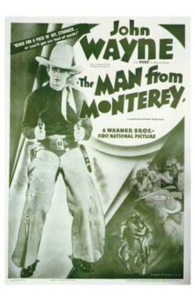 Framed Man from Monterey John Wayne Print