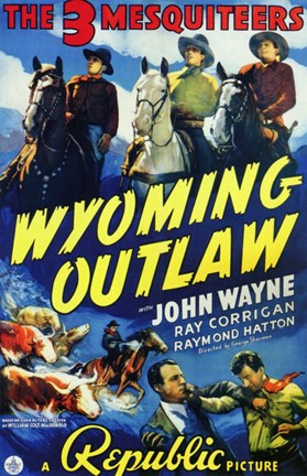 Framed Wyoming Outlaw Print