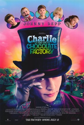 Framed Charlie and the Chocolate Factory Johnny Depp Print