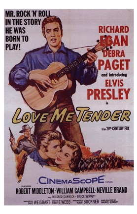 Framed Love Me Tender Print