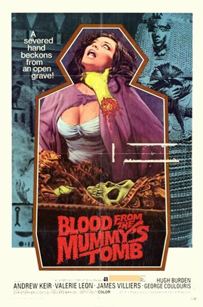 Framed Blood from the Mummy's Tomb Print