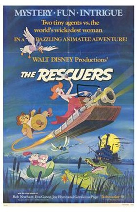 Framed Rescuers - Two tiny agents vs. the world's wikedest woman Print