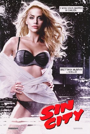 Framed Sin City Brittany Murphy as Shellie Print