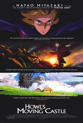 Framed Howl's Moving Castle Scenes Print