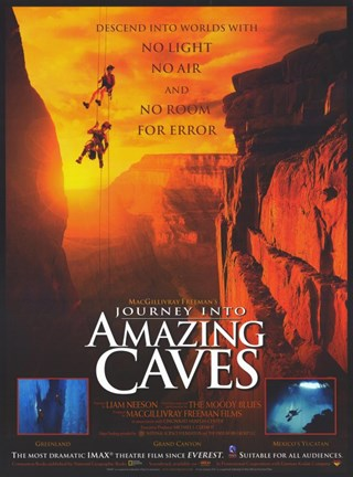 Framed Journey Into Amazing Caves (Imax) Print