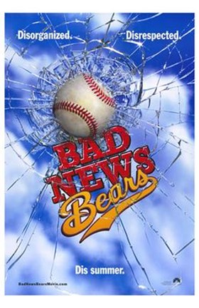 Framed Bad News Bears Baseball Print