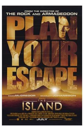 Framed Island - Plan your escape Print