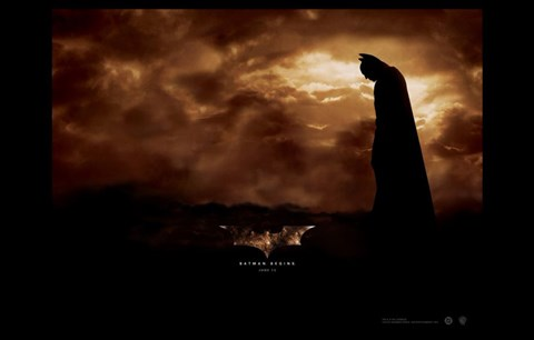 Framed Batman Begins June Horizontal Print