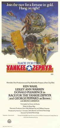 Framed Race for the Yankee Zephyr Print