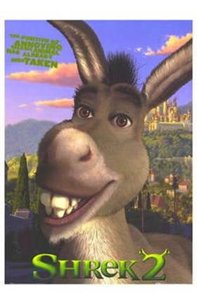 Shrek 2 Donkey Wall Poster By Unknown At Fulcrumgallery Com