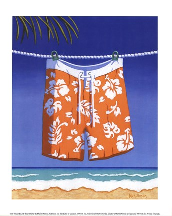 Framed Beach Bound - Boardshorts Print