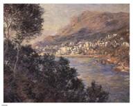 Monte Carlo Vue De Cap Martin  Fine Art Print