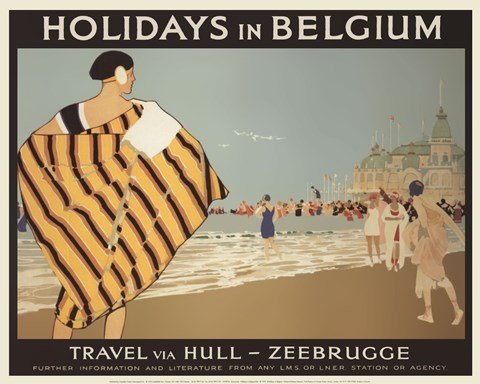Framed Holidays In Belgium Print