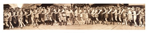 Framed Bathing Girl Parade 1920 Print