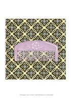 Japanese Comb on Chocolate I  Fine Art Print