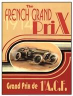 Printed French Grand Prix 1914  Fine Art Print