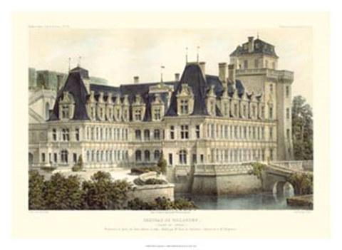 Framed French Chateaux V Print