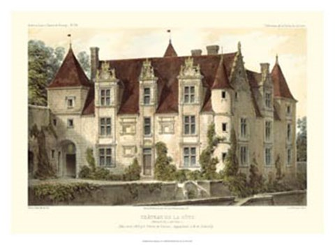 Framed French Chateaux VI Print
