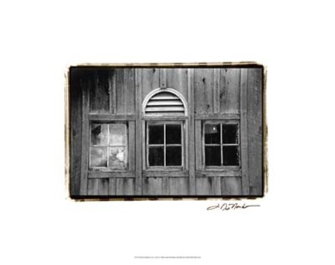 Framed Barn Windows #1 Print