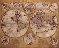 Map - Globe Terrestre