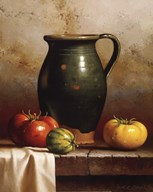 Green Pitcher, Heirlooms & Cloth  Fine Art Print