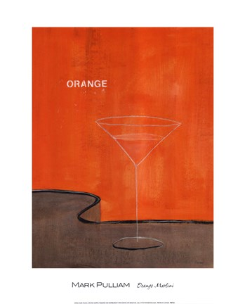 Framed Orange Martini Print