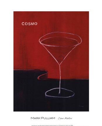 Framed Cosmo Martini Print