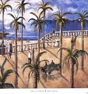 Paseo con Palmeras  Fine Art Print
