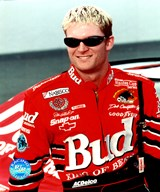 Dale Earnhardt, Jr. portrait in Bud uniform