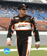 Dale Earnhardt, Jr. chance two uniform on with hat and sunglasses