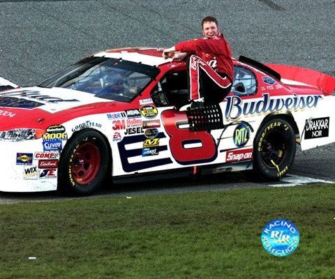 Framed Dale Earnhardt, Jr. 2004 Daytona 500 #8 car and driver after Print