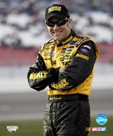 Matt Kenseth portrait with arms crossed and big grin  Fine Art Print