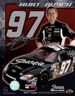 2006 Kurt Busch collage- car, number, driver and signature  Fine Art Print