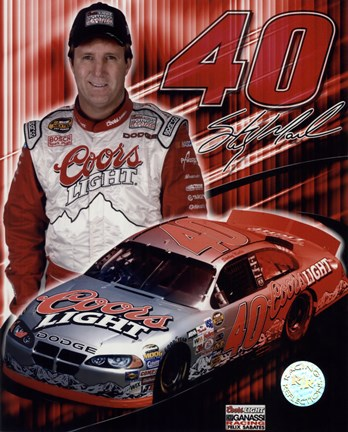 Framed 2005 Sterling Marlin collage- car, number, driver and signature Print