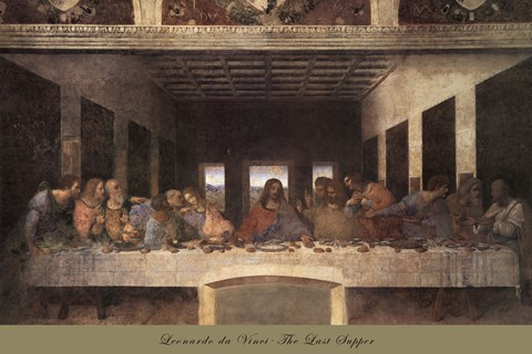 Framed Last Supper, c.1498 (post-restoration) Print