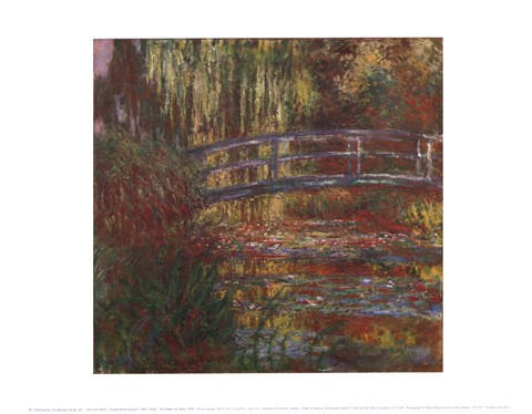 Framed Water Lily Pond, 1900 Print
