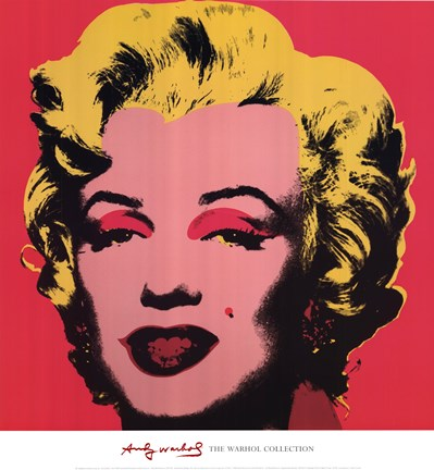 Framed Marilyn, 1967 (on hot pink ground) Print