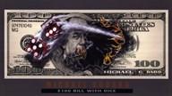 $100 Bill with Dice Art