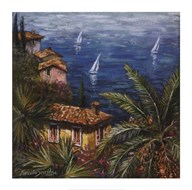 View Through Palms  Fine Art Print