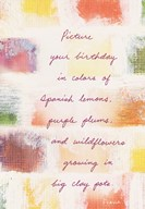 Birthday Colors  Greeting Card