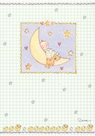 Baby - laying on the moon  Greeting Card