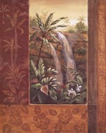 Tropical Waterfall I Art