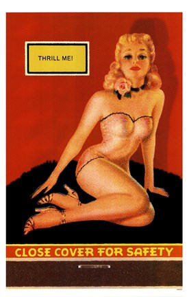 Framed Thrill Me Pin-Up Print