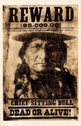 Framed Sitting Bull Print