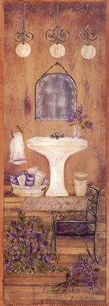 Framed Bath in Lavender I Print