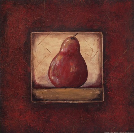 Framed Pear II Print
