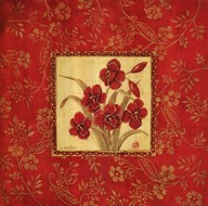 Orchids In Red Art